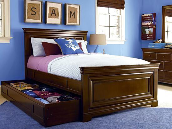 Mobila de dormitor cu pat cu lada de depozitare