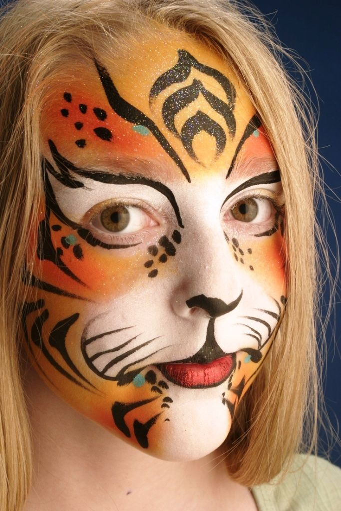 66 best halloween makeup ideas images on pinterest happy for Latest face painting designs