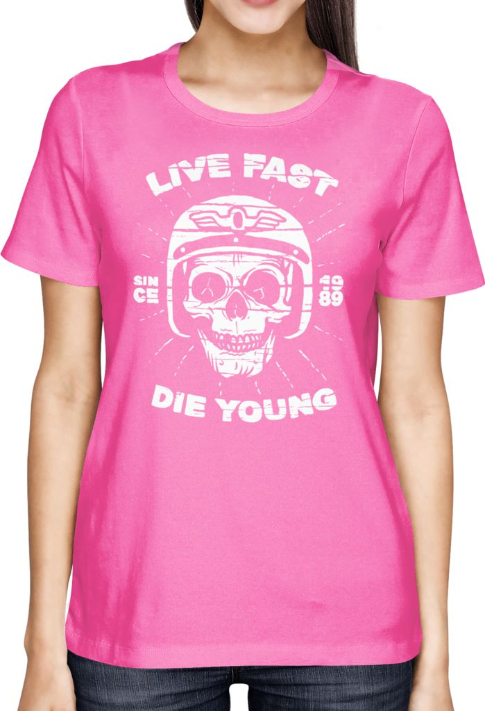 Live Fast - Die Young - 2 - Dhaporshankh Girls Tee