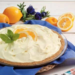 Frozen Lemonade Pie I have made this NUMEROUS times. It is a family favorite. I do not add the food coloring. The recipe will make 2 level pies, which is our preference. It's pretty rich and wonderful, let me tell you!