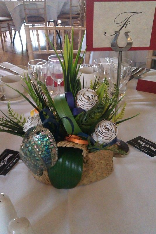 Wedding with a New Zealand theme fabulous shell