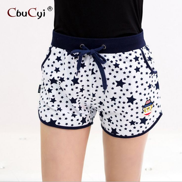 high waisted shorts 2017 summer Cotton women elastic waist  moda fitness feminina Home shorts petite culotte femme casual short