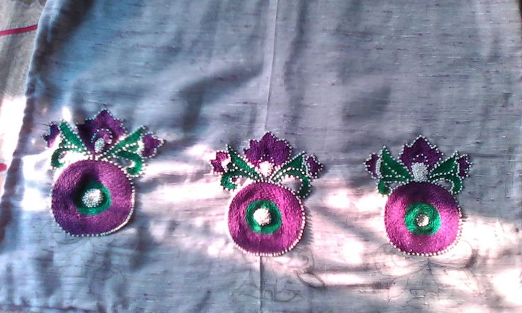 Kashmiri work and beads work can be customised for more details contact shridhifashions@rediffmail.com