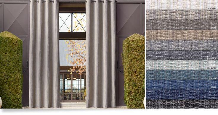die besten 17 ideen zu outdoor vorh nge auf pinterest. Black Bedroom Furniture Sets. Home Design Ideas