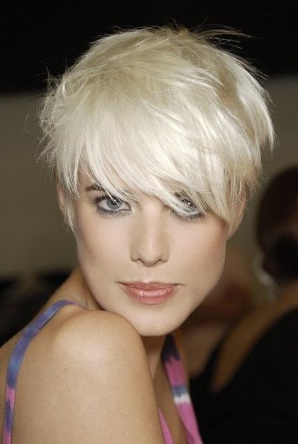 Sexy Platinum pixie cut…..stunning...
