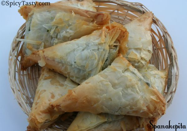 Spanakopita | Spicy Tasty This recipe uses olive oil instead of butter between sheets philo dough