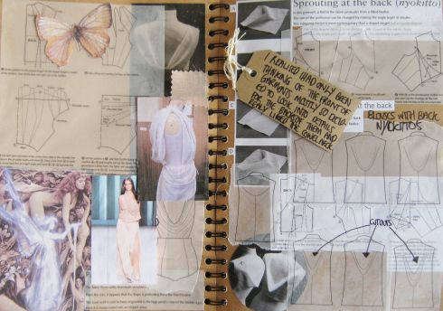 Fashion Sketchbook - fashion design & development; research, ideas, sketches, fashion design flats; the creative process // Samantha Rounding