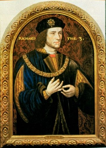 The portrait of Richard III commissioned by a descendant of William Sheldon who fought at Bosworth for King Richard III and is buried in St Leonard's Church, Beoley, Worcestershire.