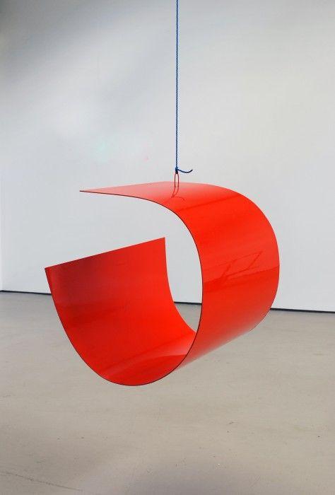 """Danish-born artist Ib Geertsen (1919-2009) """"Orange form IG 1190"""", 1981. #Dansk #Kunst #Danish #Art"""