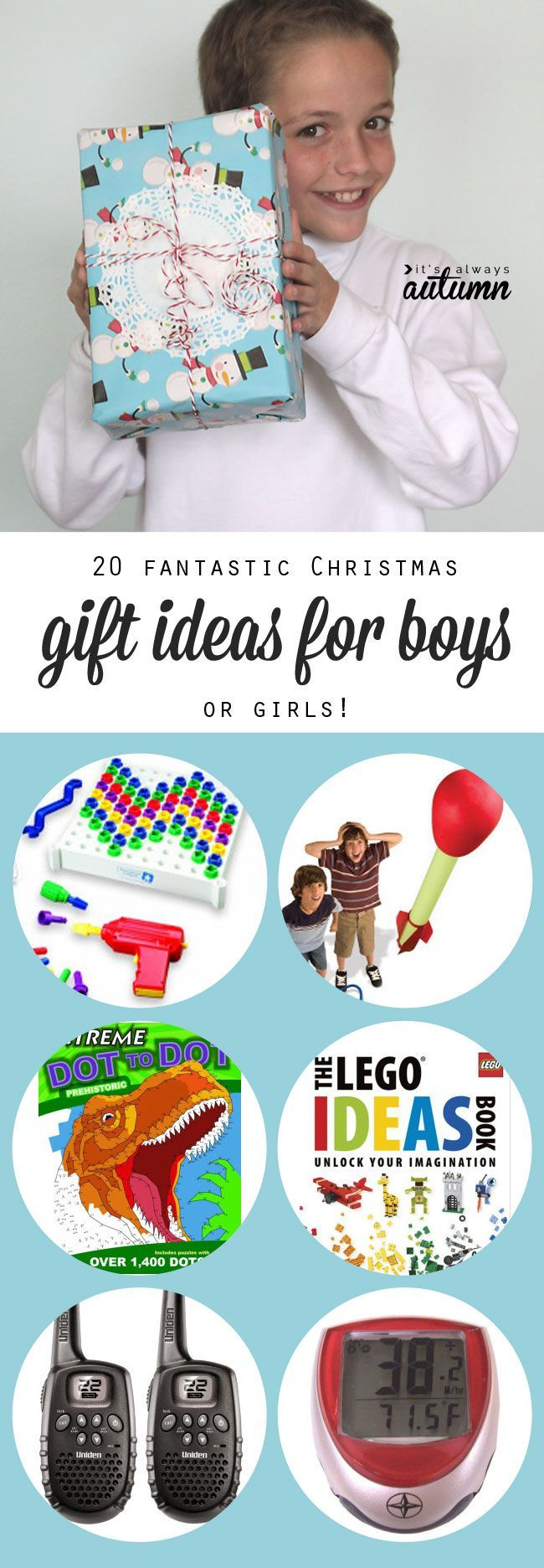 stop wasting money on presents that get ignored or broken! check out the 20 best Christmas gift ideas for boys - these ideas work for girls too!