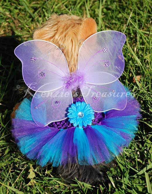 Mystical Purple Butterfly Dog Tutu Outfit  by KenziesTreasures