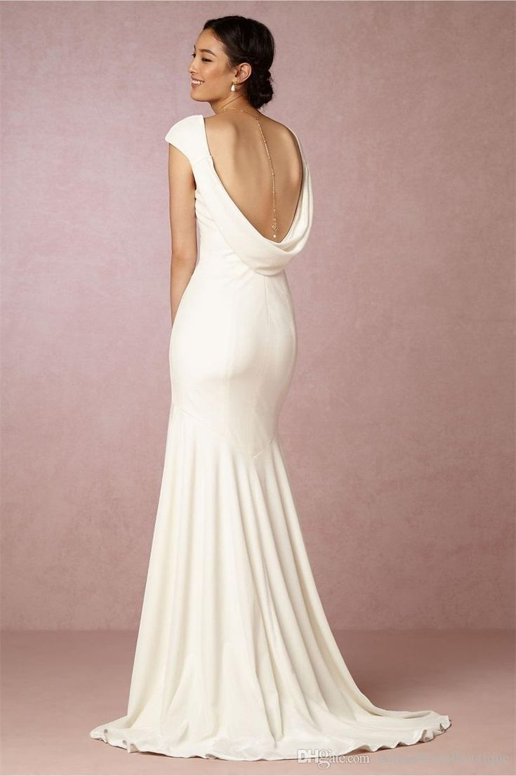 2016 Sophisticated Velvet Weeding Dresses Bhldn With Open Back And V Neck Custom Made Ivory Column Bridal Gowns Affordable Wedding Dress Affordable Wedding Gowns From Uniquebridalboutique, $123.02| Dhgate.Com