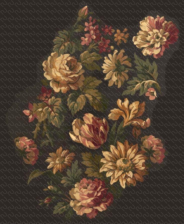 (592) painting Flemish flowers (preview150dpi) – Imagesfashiontextiles