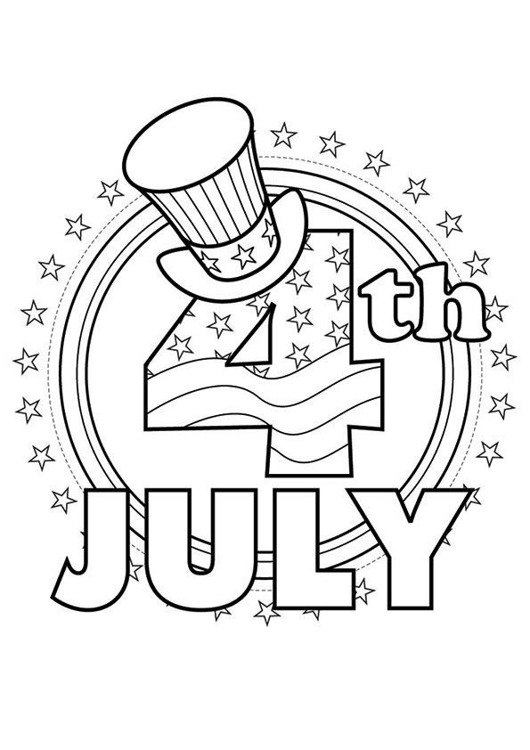 The 4th Of July Coloring Page Labordaycraftsforkids Print Coloring Image 4th Of July Coloring Pages Free Prin July Colors July Crafts Free Coloring Pictures