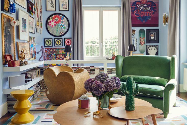 L'appartamento a Milano di Nelcya e Fabrizio Cantoni, fondatori del marchio di tappeti contemporanei cc-tapis
