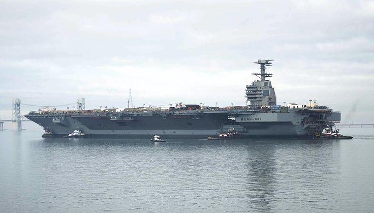 PCU Gerald R. Ford at shipyard