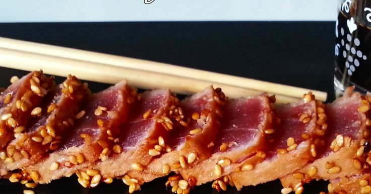 Comenzamos nueva semana!!!! Y en esta ocasión con un TATAKI DE ATÚN, un aperitivo que es una auténtica delicia, para los que se atrevan con...