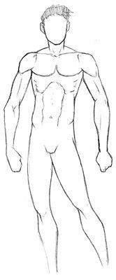 Männliche Manga-Figur