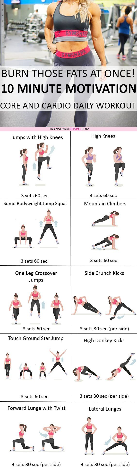 Repin and share if this workout was really effective for you! Read the post for all of the workouts!