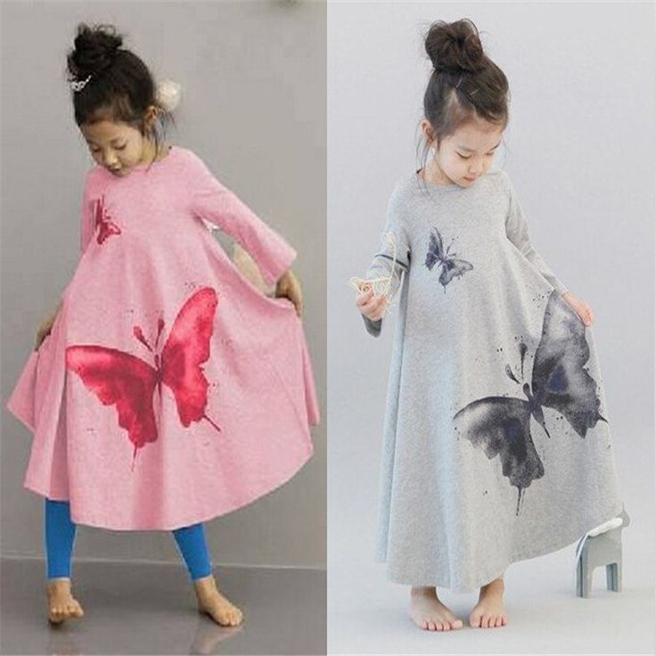>> Click to Buy << Casual Butterfly Teenage Girls Dresses Cute Long Sleeve Girl Dresses 2 Colors Vestido Girl Party Elegant Teenage Girls Dresses #Affiliate