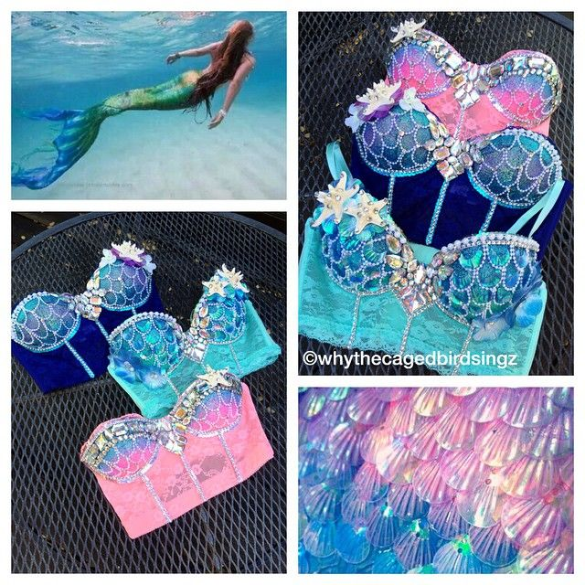 mermaid bustiers lookin pretty as can be! almost all of my designs can be recreated on a bustier or longline styles for all the babes out there that like the look of a lil more coverage ✨✨ custom orders currently CLOSED until july (or until further notice) •  for premade items: etsy link in bio •  follow us on facebook: www.facebook.com/whythecagedbirdsingz •  follow us on Pinterest: www.pinterest.com/wtcbs • snapchat: @wtcbs (follow for sneak peeks and behind the scenes action!)
