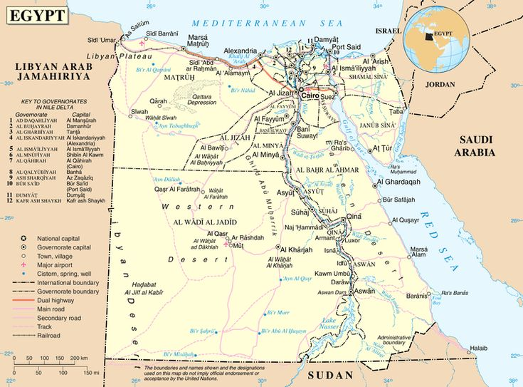 Egypt: Country Map and Essential Information