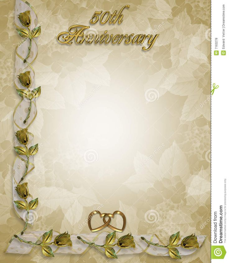 Backdrops Silver Wedding Invitations: ... 50th Wedding Anniversary
