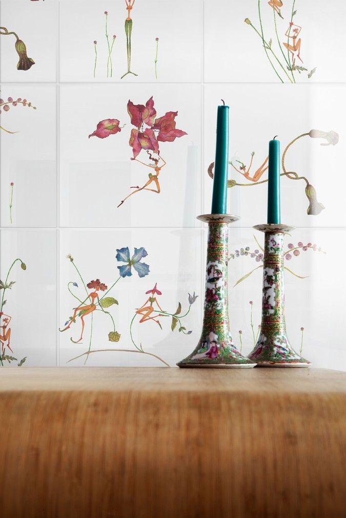 Ceramica Bardelli - Fatine Buffe, design Maddalena Sisto #tiles #ceramictiles #madeinitaly #tile #piastrelle #piastrelledesign #design #designmadeinitaly #ceramicabardelli #bardelli #syncronia #architecturevictims #syncroniaarchitecturevictims #maddalenasisto #maddalenasistodesign