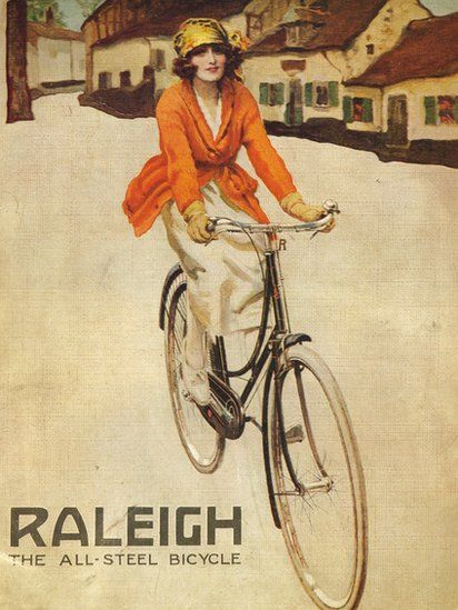 "Raleigh bicycle posters – As Raleigh Cycle is sold to Dutch rival Accell for £62m, historian Carlton Reid - author of free e-book roadswerenotbuiltforcars.com - takes a look at posters produced by the British institution over the years. He says Raleigh's strapline - ""the all steel bicycle"" - was introduced in the 1890s and used for decades."