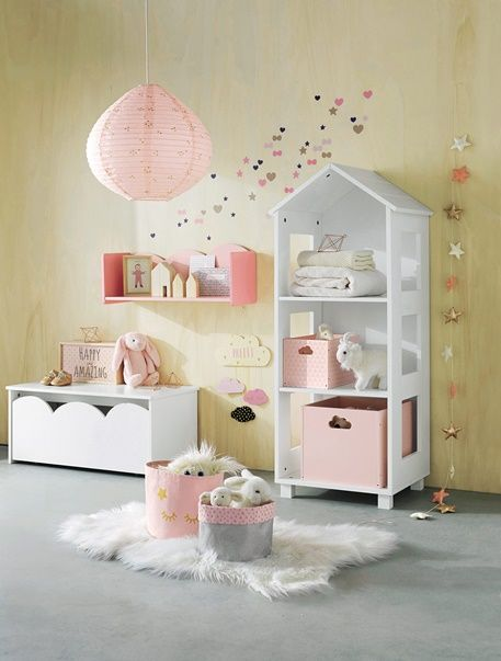 Storage Chest - Pink+White - 4