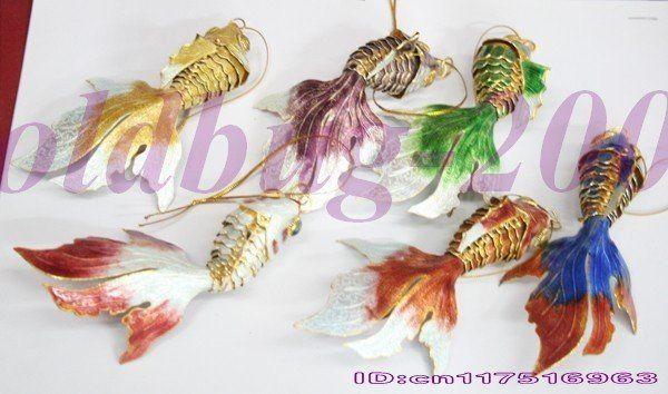 七宝焼き金魚 Cloisonne goldfish