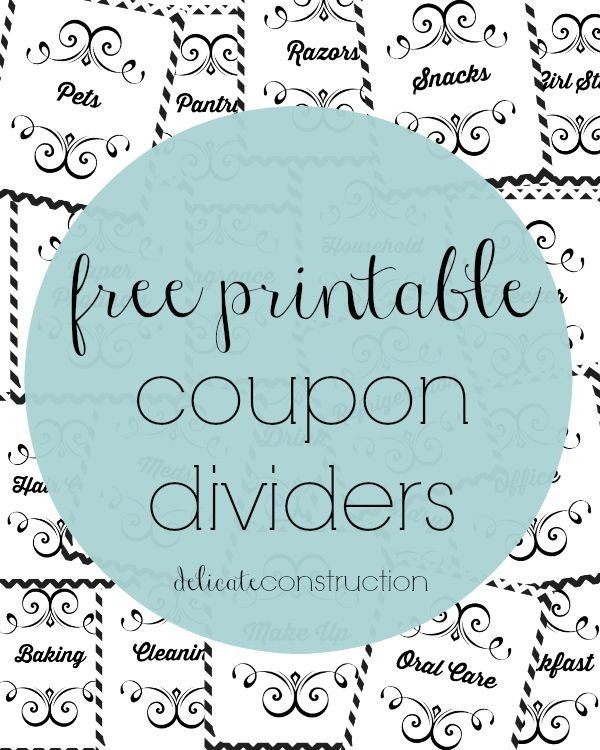 Hey All! I am working on my coupon binder and something just stands out. My dividers, they are ugly and rushed, mostly written with a highlighter on a sheet of paper and they have been that way for as long as I can remember. I have done a complete over haul on my binder, so …
