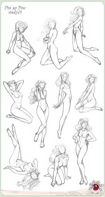 Pin up poses study by Ekaterina Golovanova (GALEKA-EKAGO)  See more:Pin Up and Cartoon Girls