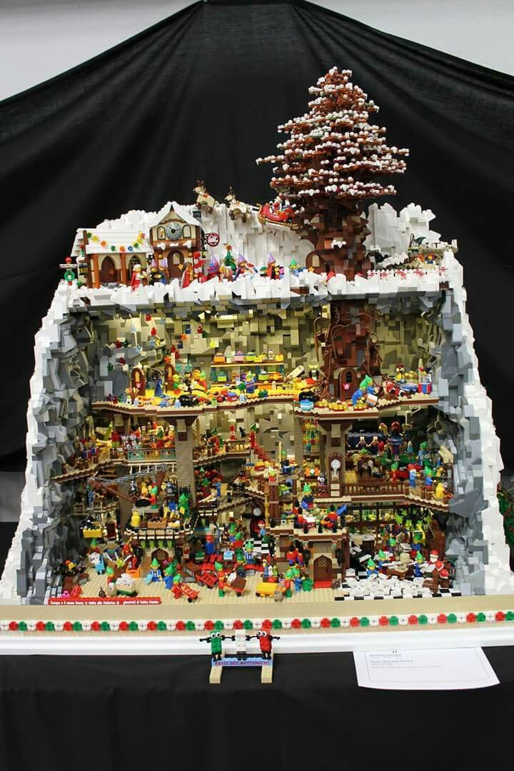 Awesome Lego Winter Scene Awesome Lego Winter Scene In 2020 Lego Christmas Cool Lego Creations Amazing Lego Creations