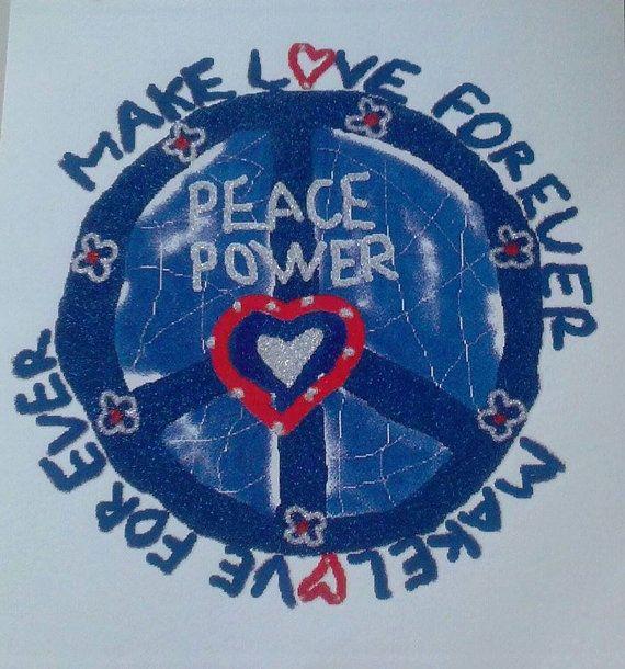 $1 at www.suppliesandstash.etsy.com Peace Power Sign Applique Patch Paper Supplies by suppliesandstash