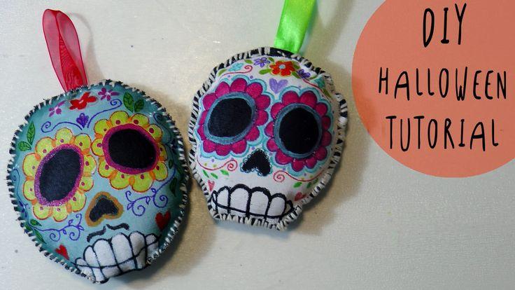 Tutorial Halloween: come fare Teschi Messicani di stoffa MORBIDOSI by AR...