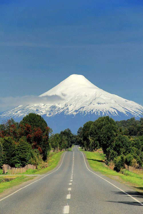 Osorno volcano, Chile - one of the most active volcanoes of the southern Chilean Andes.