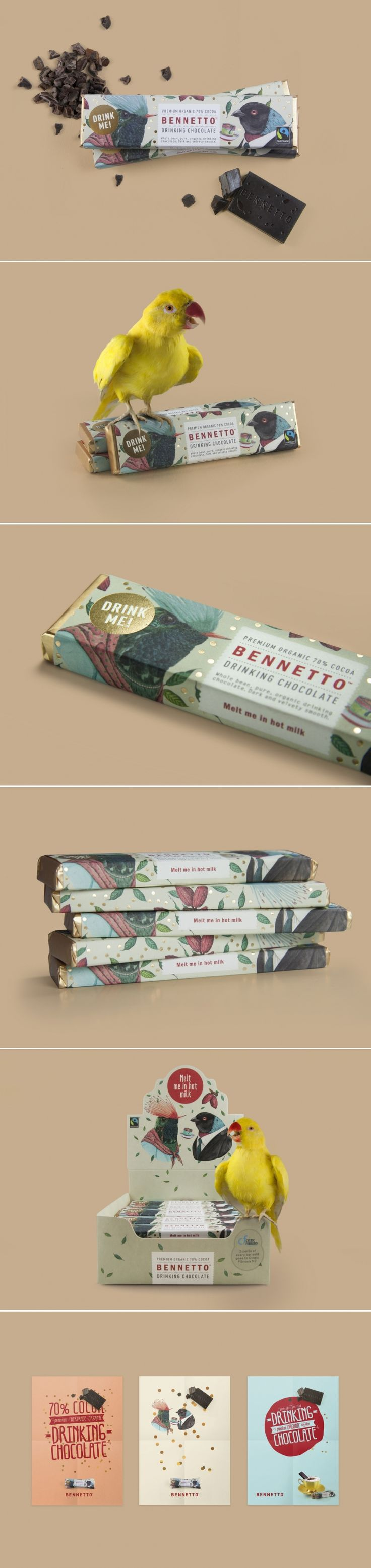 Bennetto Drinking Chocolate — The Dieline - Branding & Packaging Design