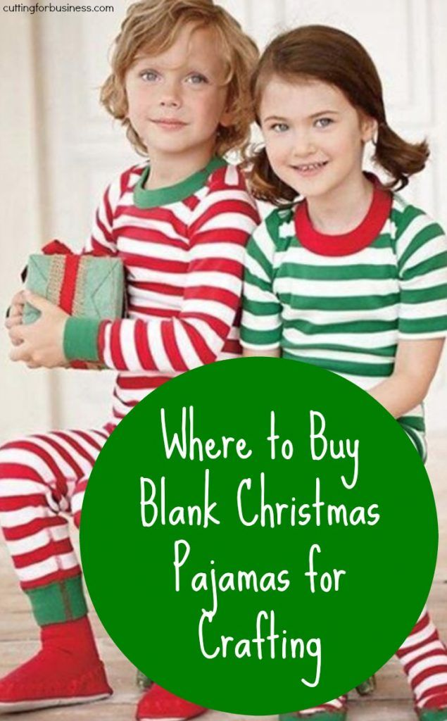 Where to Buy Blank Christmas Pajamas for Silhouette Cameo and Cricut Crafting - by cuttingforbusiness.com