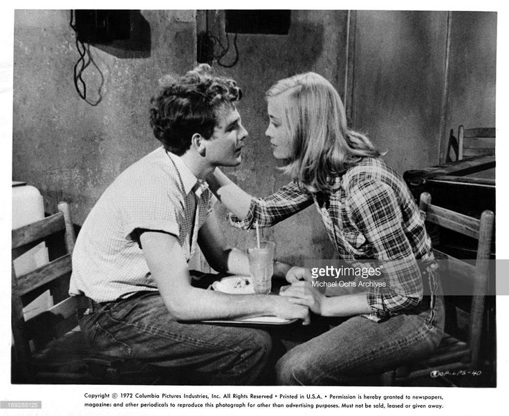 Timothy Bottoms is proposed to by Cybill Shepherd in a scene from the film 'The Last Picture Show', 1971.