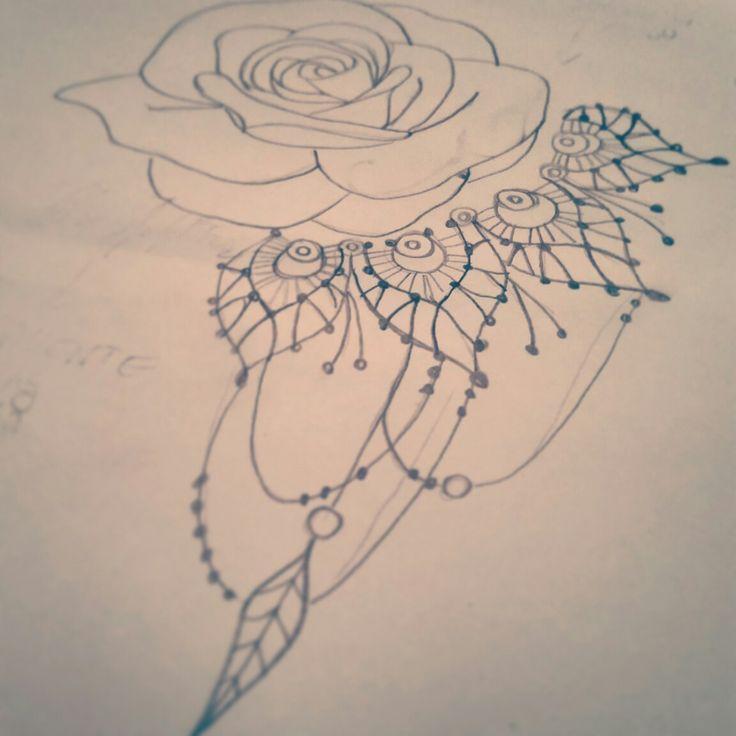 #tattoo #rose #dreamcatcher