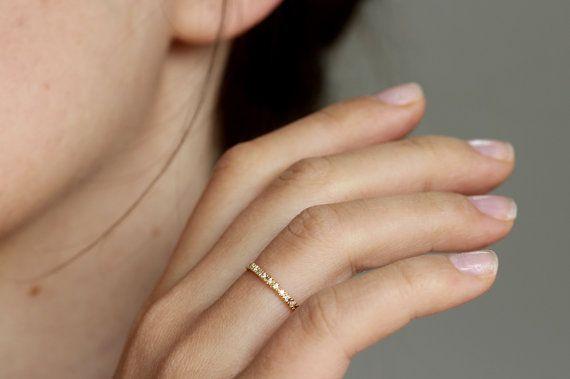 Thin Diamond Eternity Ring Eternity Wedding Band 18k by artemer