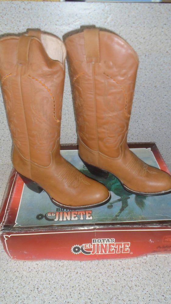 BOTAS EL JINETE Brown 27.5 (8.5) Men's leather Boots Made in Mexico #ElJinete #CowboyWestern