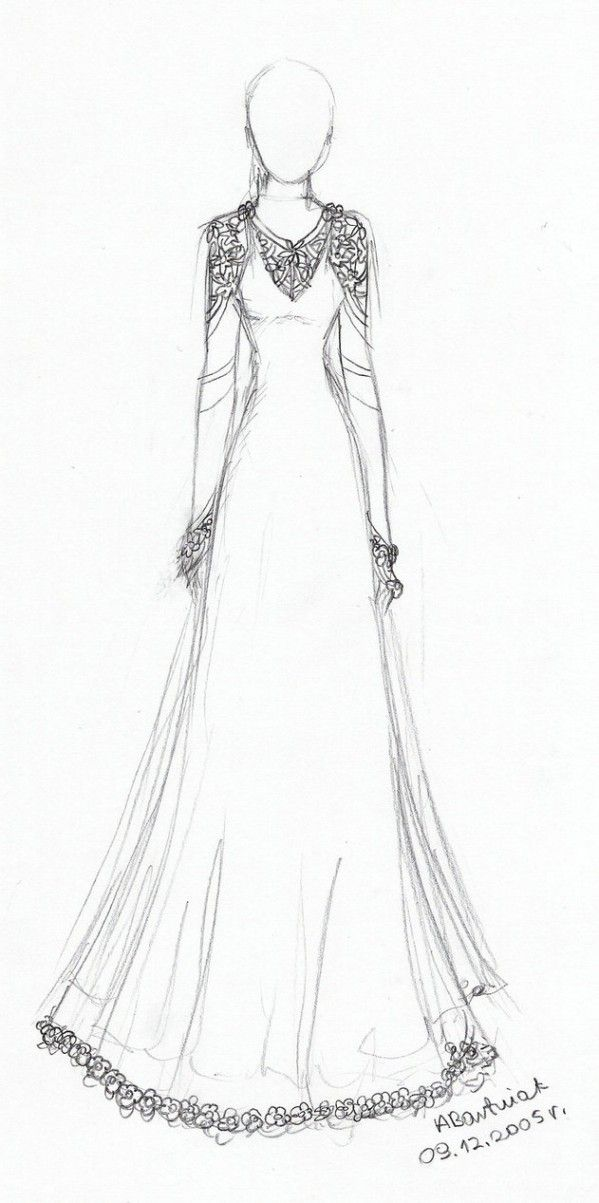 Fashion Design Sketches Of Dresses Luxury Sketch Dress Simple