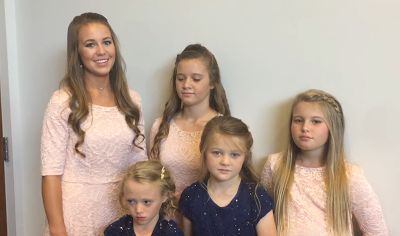 Jana Duggar and the 4 little girls are thrilled to welcome new sister Kendra Caldwell into the Duggar family.