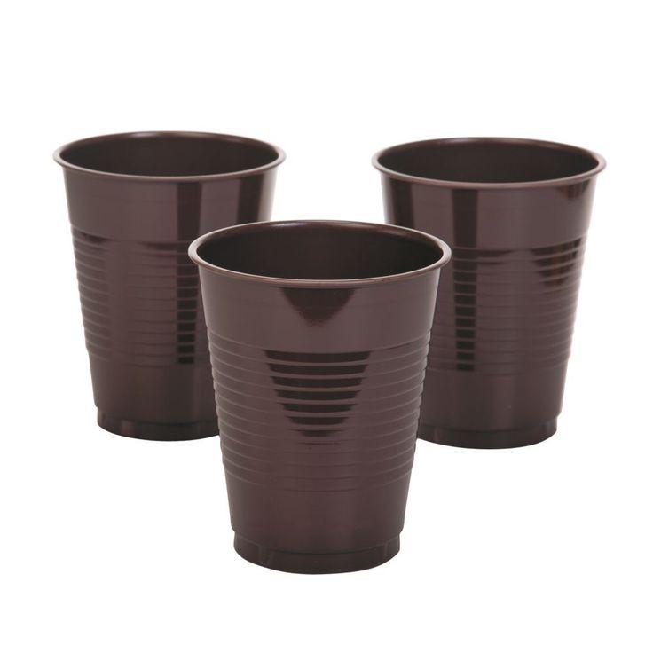 Chocolate Brown Plastic Plastic Tumblers