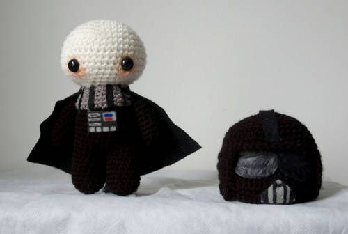 Crochet Darth Vader with removable helmet! OH MY GOSH!!! <3