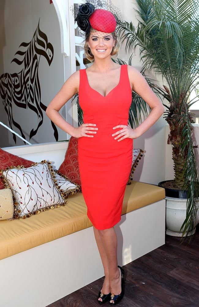 Melbourne Cup Race Day. Kate Upton. Picture By Julie Kiriacoudis