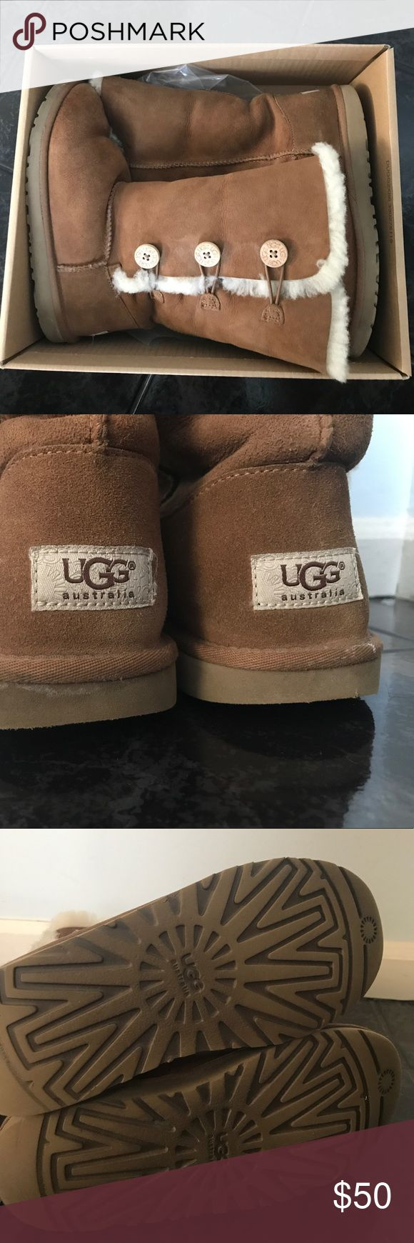 Bailey Button Triplet II Kids Kids Bailey Button Triplet II Size 5, color Chestnut. Warm & Cozy boots for this winter, make an offer!❄️❄️❄️ UGG Shoes Boots