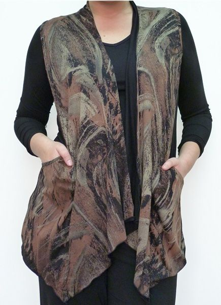 Vest Dion with pocket Colour:  Bronze. Available Sizes: S, M, L,  XL,  XXL Original Price : AUD $ 83.00 Today's Price : AUD $ 69.00